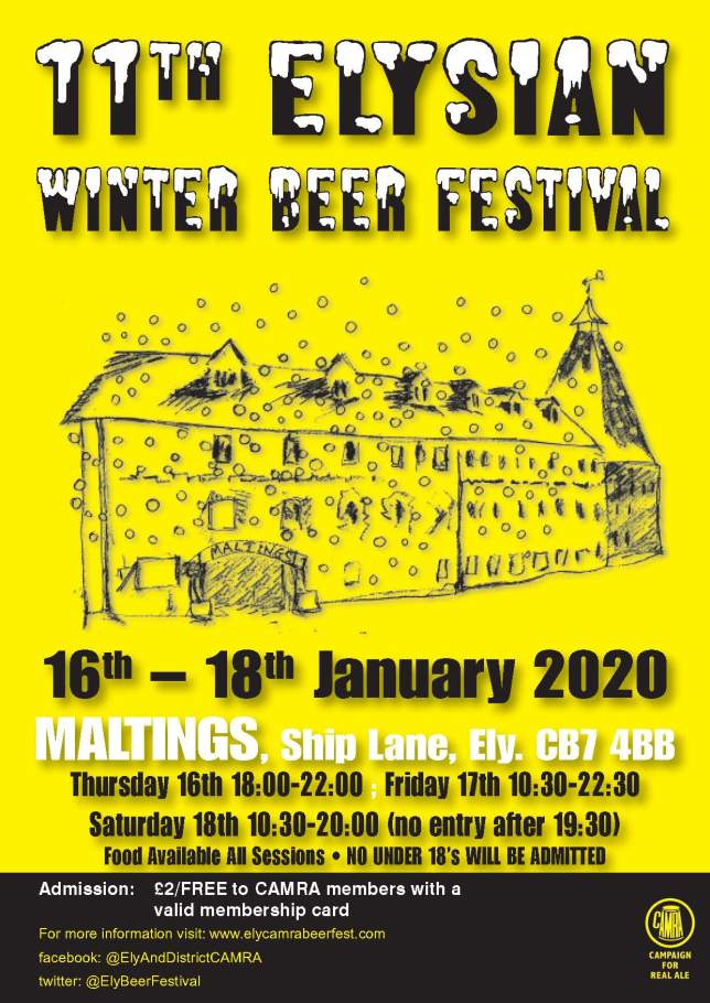 13683 winter beer festival poster A4
